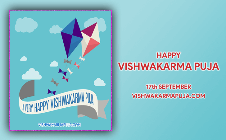 Lovely Vishwakarma Puja Greeting Design
