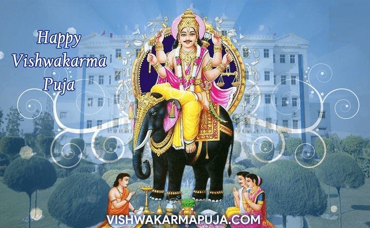 Magnetic Vishwakarma Puja Greeting