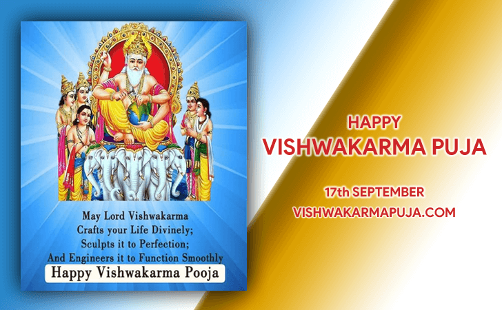 Magnificent Vishwakarma Puja Greeting