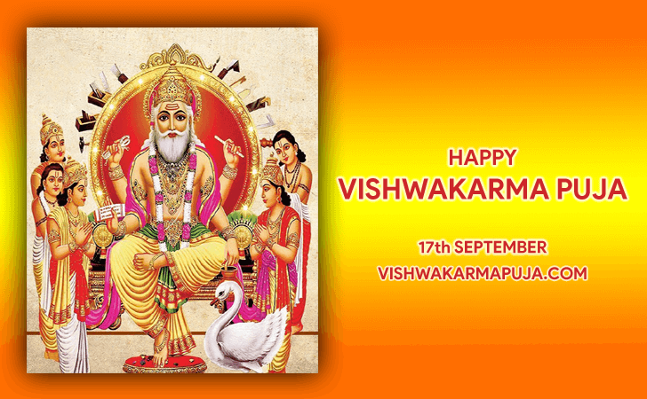 Marvelous Vishwakarma Puja Greeting