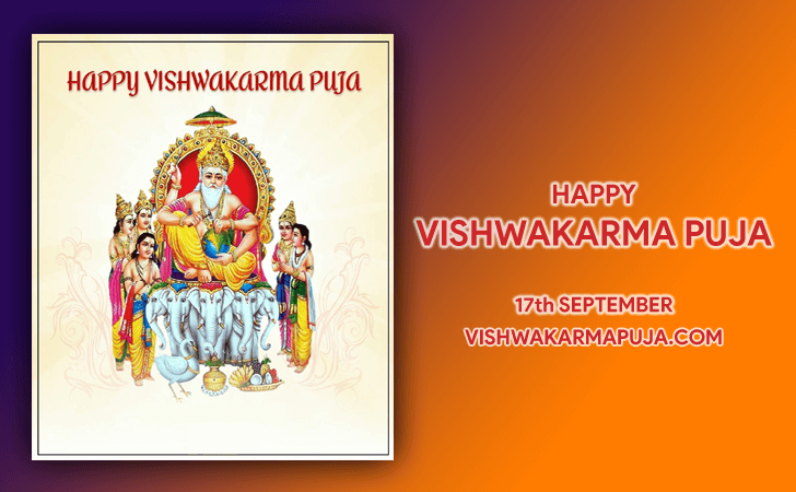 Ravishing Vishwakarma Puja Greeting