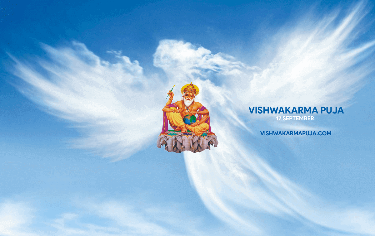Angelic Vishwakarma Puja Wallpaper
