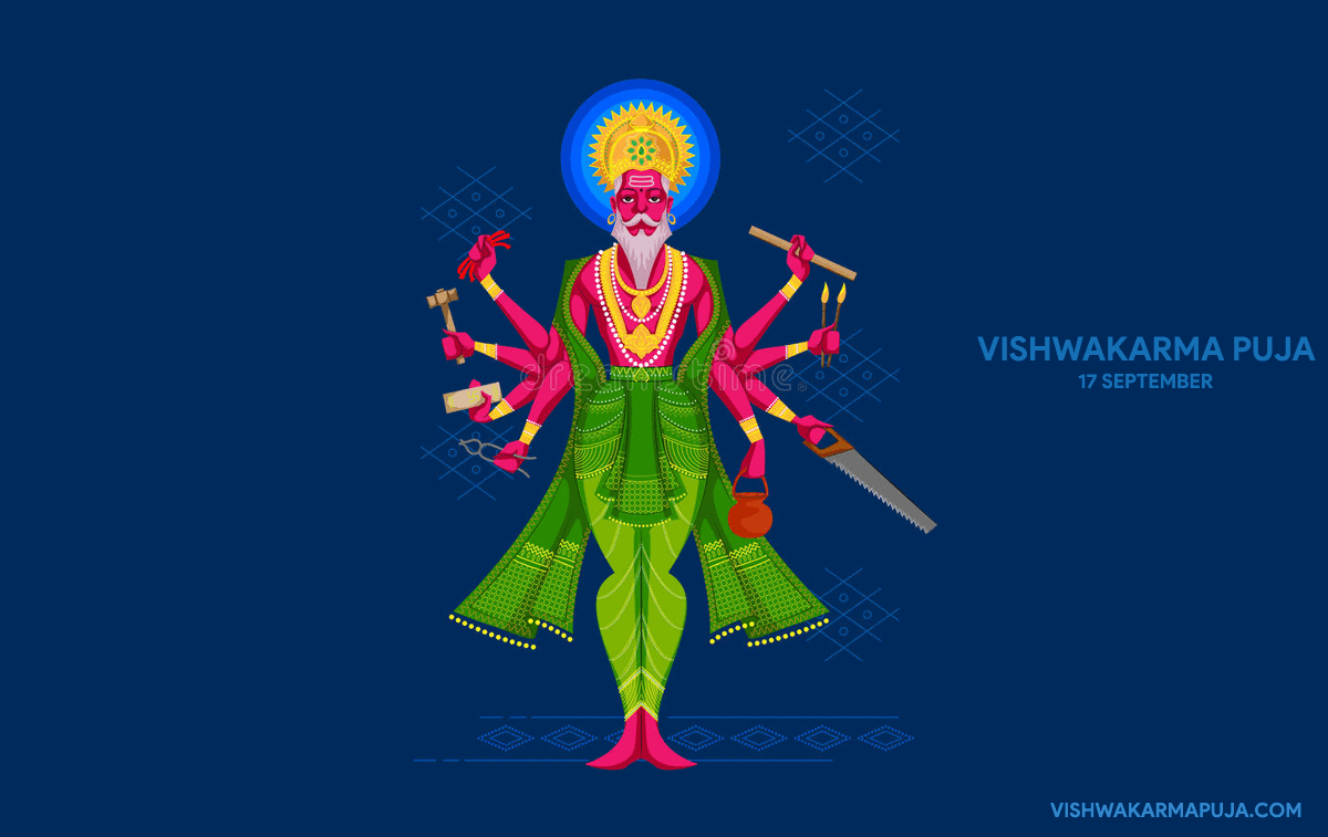 Charming Vishwakarma Puja Wallpaper