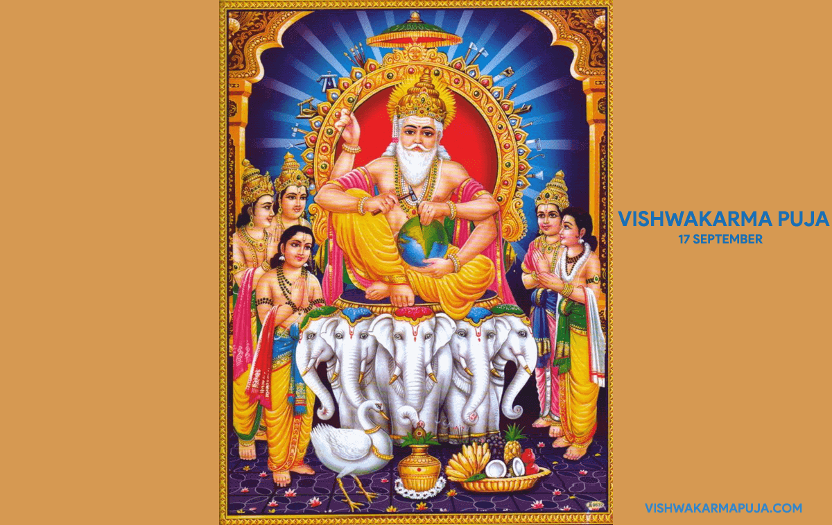 Cute Vishwakarma Puja Wallpaper